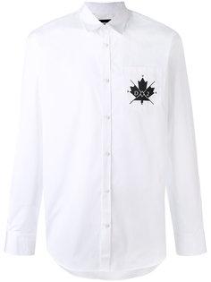 рубашка с вышивкой логотипа Dsquared2