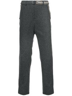 узкие брюки с контрастной каймой Sacai