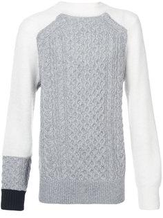 свитер крупной вязки Sacai