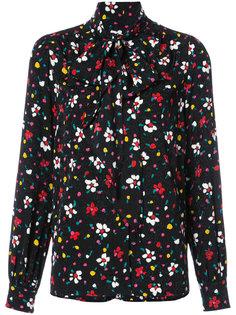 блузка с воротником на завязке и цветочным узором Marc Jacobs