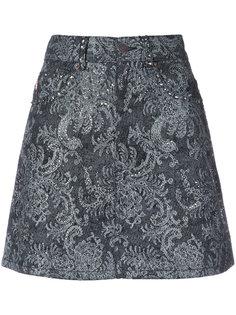 кружевная мини-юбка со стразами Marc Jacobs