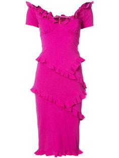 облегающее платье с оборками Nicole Miller