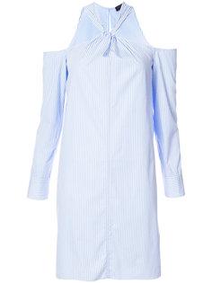 платье с вырезом-халтер в полоску Rag & Bone