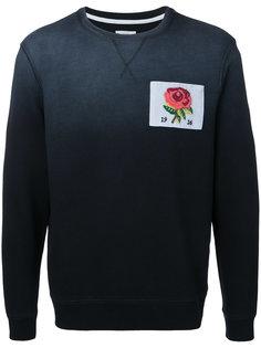 толстовка с вышивкой розы Kent & Curwen