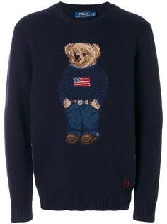 свитер с вышитым медведем Polo Ralph Lauren