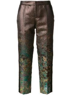 укороченные брюки с металлическим отблеском A.F.Vandevorst