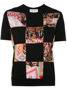 футболка с лоскутными деталями Salvatore Ferragamo
