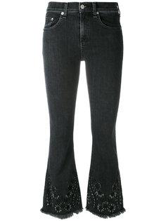 расклешенные джинсы с цветочной вышивкой Rag & Bone