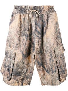 шорты с абстрактным принтом Yeezy