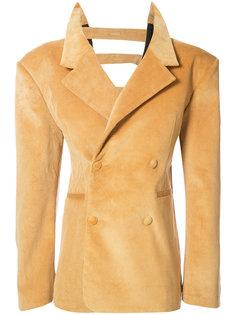 бархатный двубортный пиджак  Y / Project
