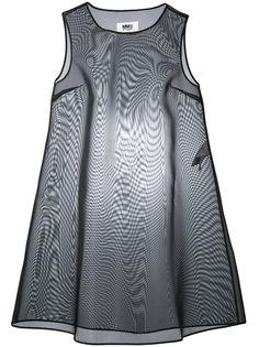 прозрачное каркасное платье Mm6 Maison Margiela
