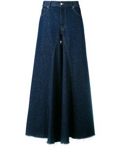 широкие брюки с необработанными краями Mm6 Maison Margiela