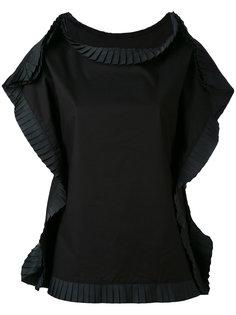 футболка с плиссированной отделкой Mm6 Maison Margiela