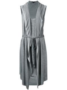 платье с капюшоном и неравномерным подолом Unconditional