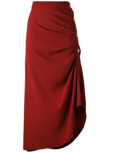 асимметричная юбка со сборкой Marni
