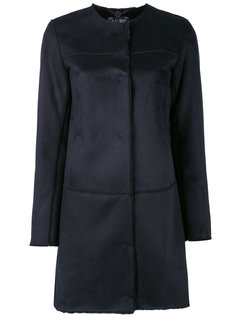однобортное пальто Armani Jeans