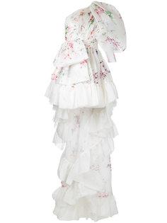 асимметричное вечернее платье на одно плечо Isabel Sanchis