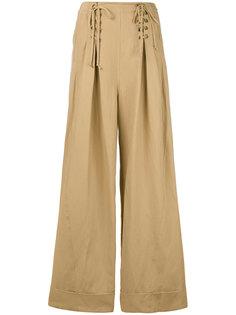 расклешенные брюки со шнуровкой Ulla Johnson