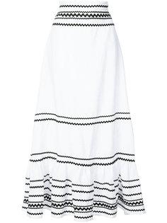 длинная юбка с полосатым узором Lisa Marie Fernandez