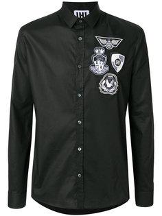 рубашка с заплатками Les Hommes Urban