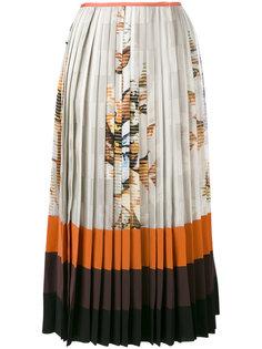 плиссированная юбка с принтом Fendi