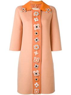 декорированное однобортное пальто Fendi