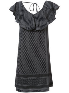 платье с V-образным вырезом с оборками Cecilie Copenhagen