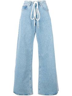 расклешенные джинсы на шнурке Off-White