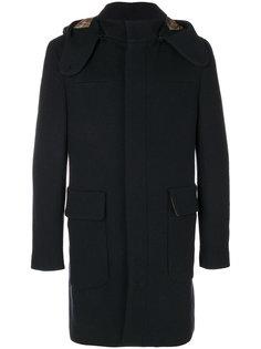 пальто с капюшоном и контрастной подкладкой Etro