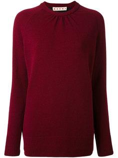 двухцветный свитер с круглым вырезом Marni