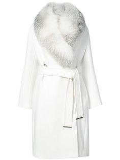 пальто с меховой накидкой Roberto Cavalli