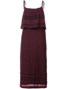 платье-миди с оборками Cecilie Copenhagen