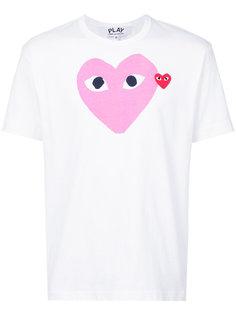 футболка с серцем Comme Des Garçons Play