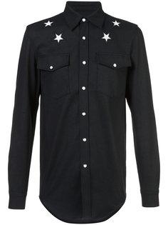 рубашка с вышитыми звездами Givenchy