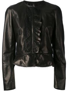 куртка с оборками Roberto Cavalli
