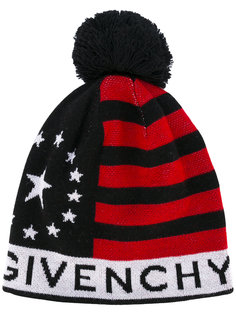 трикотажная шапка со звездами и полосками Givenchy