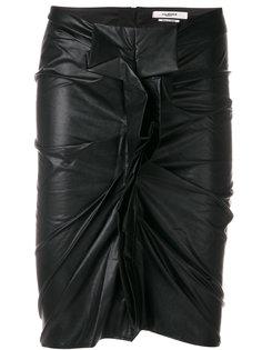 юбка под кожу с оборчатым дизайном Isabel Marant Étoile