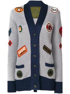 трикотажное пальто с нашивками  Mr & Mrs Italy