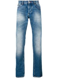 прямые джинсы с выцветшим эффектом Philipp Plein