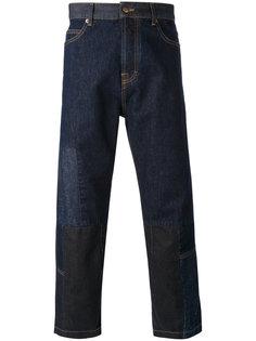 укороченные джинсы с нашивками Alexander McQueen
