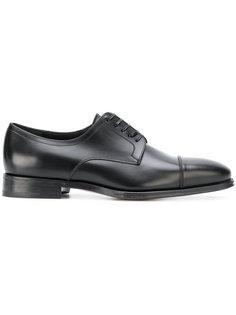 ботинки-дерби с простроченными панелями Salvatore Ferragamo