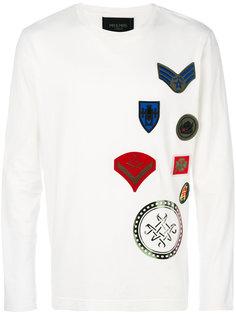 футболка с длинными рукавами и нашивками  Mr & Mrs Italy