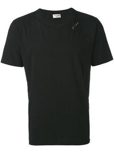 классическая однотонная футболка Saint Laurent