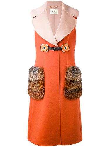 декорированный жилет с оторочкой из лисьего меха Fendi