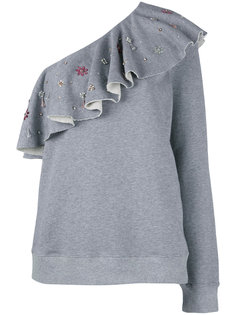 блузка на одно плечо с оборками MSGM