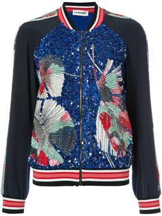 куртка-бомбер с вышивкой и пайетками Leonard