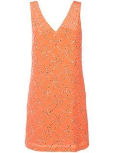 платье-шифт с V-образным вырезом  Trina Turk