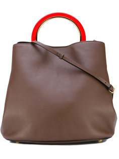 сумка-тоут с контрастной ручкой Marni