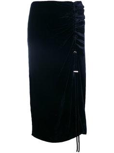 бархатная юбка со сборками Cédric Charlier