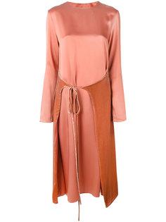платье-миди с деталью с запахом Cédric Charlier